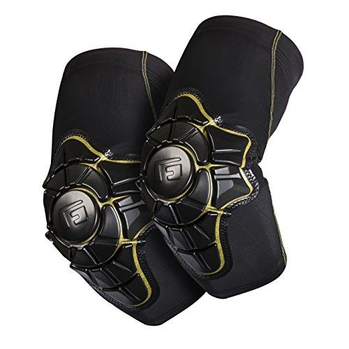 G-Form Pro-X Elbow Pads for Mountain Bike, Skate-Board, Snowboard, Cycling, BMX, E-bikes. Providing High Impact Protection and Enhanced Flexibility - Black and Yellow - XLarge