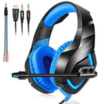 Gaming Headset Xbox One USB Surround Sound Over - Ear Gaming Headphones Headband with LED Lighting, Noice Cancelling Microphone PS4 for PC Laptop