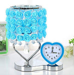GAOXP Rose fragrance lamp plug in essential oil table lamp night light creative birthday wedding (Free of aromatic oils) (Color : Blue)