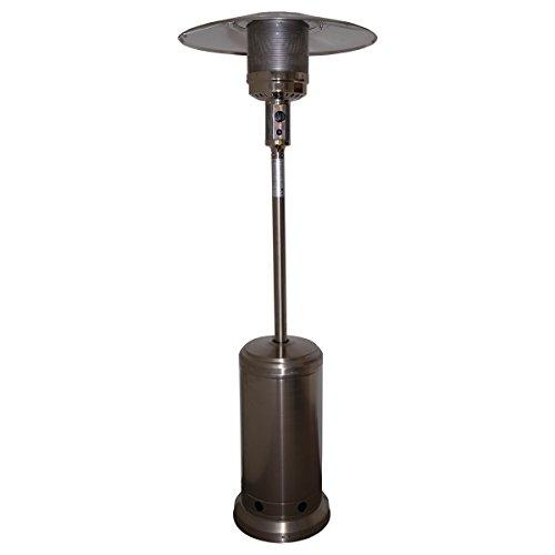 Garden Gas Patio Heater Butane Propane LPG Brushed Stainless Steel Outdoor Fire