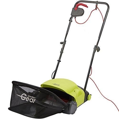 Garden Gear Electric Lawn Rake Removes Grass & Moss Adjustable Working Height 400w with 20L Collection Bag