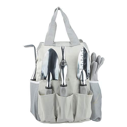 Garden Tools, 9 Piece Stainless Steel Gardening Tools with Storage Tote Bag Pruning Shears Gardening Gloves