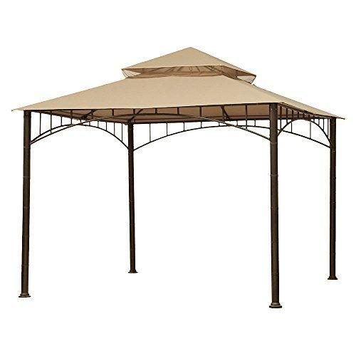 Garden Winds Madaga Gazebo Replacement Canopy, RipLock 350 (Will Only Fit the Madaga Gazebo, Not Compatible With Any Other Gazebo)