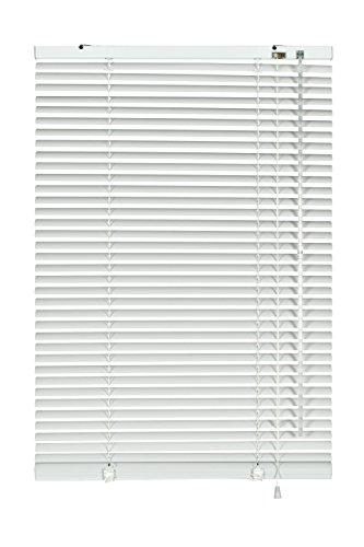 GARDINIA Aluminium Venetian Blinds, Visibility, Light and Glare Protection, Wall and Ceiling Mounting, Mounting Kit Included, Aluminium Venetian Blinds, White, 50 x 175 cm (WxH)