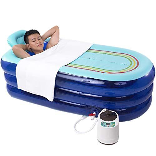 Garnish Inflatable Bathtub Adult Lying Home Steam Sauna Bath Fumigation Bucket Sauna Bathtub, 1000w Steam Engine
