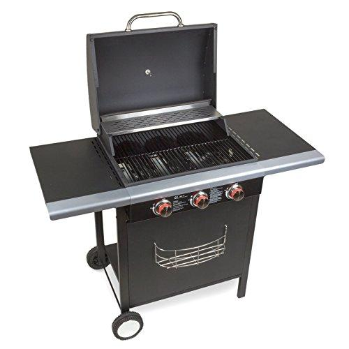 Gas grill, wheel mounted barbecue with 3 stainless steel burners, 10.5kW, model BBQ1703