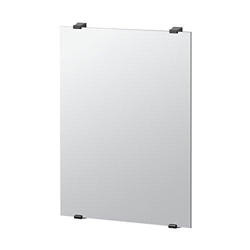"Gatco 1563MX Bleu Bathroom Minimalist Mirror, 31"" x 22"", Matte Black"