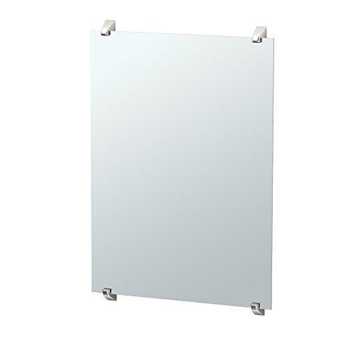 "Gatco 1584 Quantra Minimalist Bathroom Fixed Mounted Mirror, 30"", Satin Nickel"