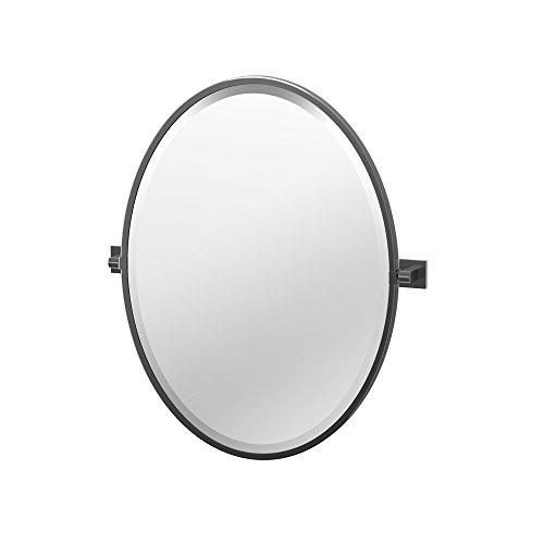 Gatco 4059-Parent Elevate Bathroom Framed Small Oval Mirror, 27.5-inch, Matte Black