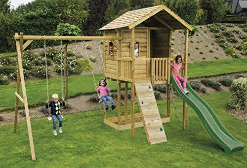 Gate Lodge Outdoor Childrens Wooden Swing Set Climbing Frame 6 Foot
