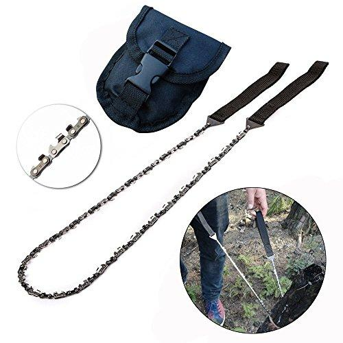 GDRAVEN Outdoor Survival Pocket Chainsaw for Survival Gear,Portable Chainsaw Gardening Saws,Bug Out Bag, Camping Hiking Gear,Emergency Kit with Pouch