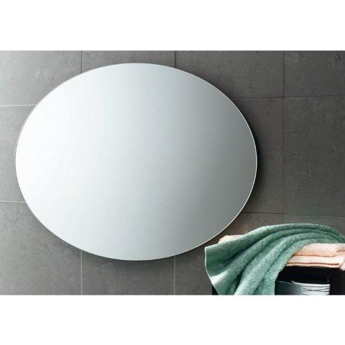 "Gedy Planet Round Wall Mounted Vanity Mirror, Polished, 30"" x 20"""