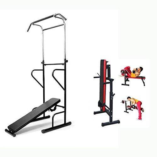 Generic ar Weight Bench AB Sit Chin Up Bench Bar Weight Fitness Power Tower Weight Fitne Pull Press Sit Pull Dip Station Bench ss Power T Chin Up Bench Bar