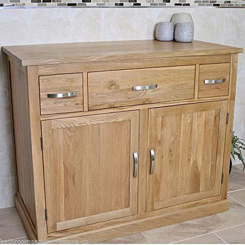 Generic * Bathroo Vanity Cabinet Bathroo Furniture 1000mm Solid Oa Solid Oak Bathroom iture 100 Sideboard deboard Cupboard Storage age Sideboard