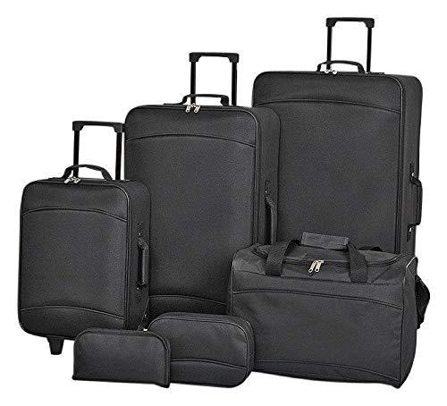Generic led Suitca Travel Holiday led Suitcas Trolley Case Travel Hol 6Piece Luggage Set rolley Wheeled Suitcases t Wheel Cabin Wheel Cabin