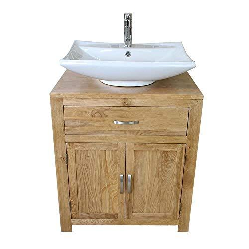 Generic * oom Va Furniture Wash m Vanity Oak Cabinet Bathroom Bathroom Vanity Unit urniture Ceramic Basin Set Basin Set Stand & c Basin Set