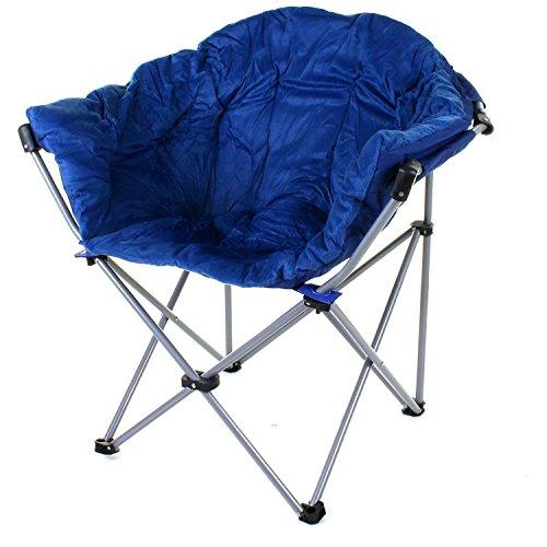 Generic * or Fold Garden Fishing Foldin Chair Camping Outdoor Foldi Outdoor Folding Moon Moon Chair C Portable Seat le Seat Picnic Padded rtable Seat