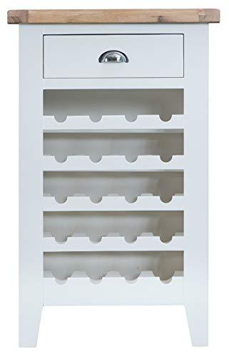 Generic RAGE WINE RACK0 BOTTLE STORA WINE CABINET WHITE PAINTED 20 BOTTLE OAK SMALL STORAGE WINE RACK WHITE PAINTED OAK S