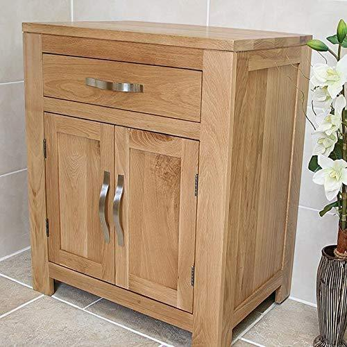 Generic * room Furnit Cabinet Cupboard oom Fu Oak Vanity Bathroom Bathroom Furniture Solid ty Cabinet 700mm e Unit 700mm Storage Unit age Unit 700mm
