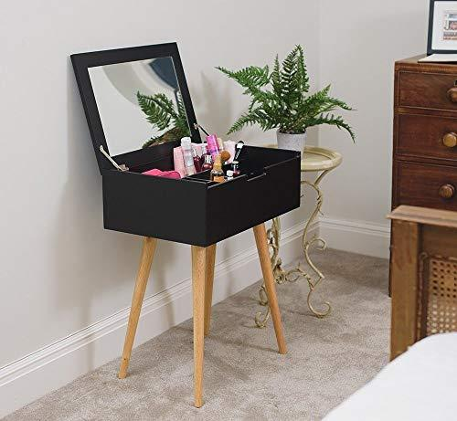 Generic room Sle Black Compartments room Slee with Mirror ts Bedr Dressing and Make irror Bedroom Sleek Wooden Make up T up Table