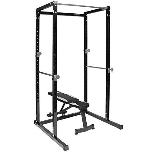 Generic Weight Bench Up Bar Adjustable Folding Power Cage Squat Power with Adjustable k Pull U Rack Pull quat Folding Weight Bench