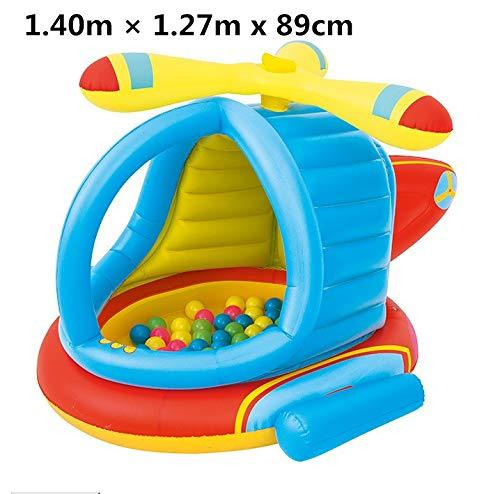 gengyouyuan Play pool Helicopter ball house Ocean ball pool Baby paddling pool thickening 1.40m × 1.27m x 89cm