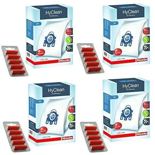 Genuine Miele GN Vacuum Cleaner 3D Hyclean Hoover Bags + Air Filters (Pack of 16 + Fresheners)
