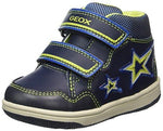 Geox Baby'' B New Flick BOY E Trainers Blue (Navy/Lime C0749) 7 UK Child