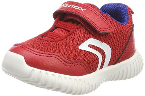 Geox Baby Waviness BOY B Trainers RED/Royal C7213, 9 UK Child