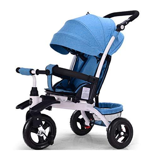 GIFT 3 In 1 Baby Carriage 3 Rounds Bike - Outdoor Children Tricycle With Foot Pedal,Can Sit And Lie Down Children's Car,C