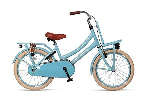 Girl Bike Altec Urban 20 Inch Front Brake on Handlebar and Rear Coasterbrake Front and Rear Carrier Light Blue 85% Assembled