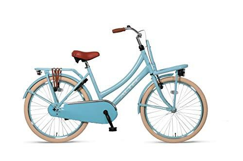 Girl Bike Altec Urban 24 Inch Front Brake on Handlebar and Rear Coasterbrake Front and Rear Carrier Light Blue 85% Assembled