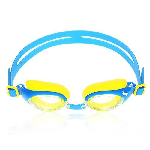 Girls Swimming Goggles with Three Flexible Soft Nose Bridge