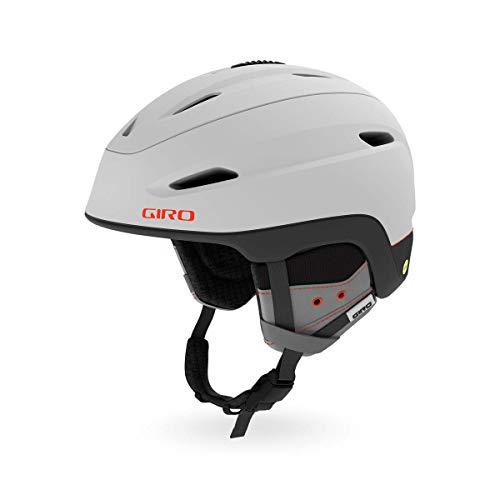 Giro Zone MIPS Men's Ski/Snow Helmet, mens, 7093718, Matte Light Grey/Vermillion, 52-55.5 cm