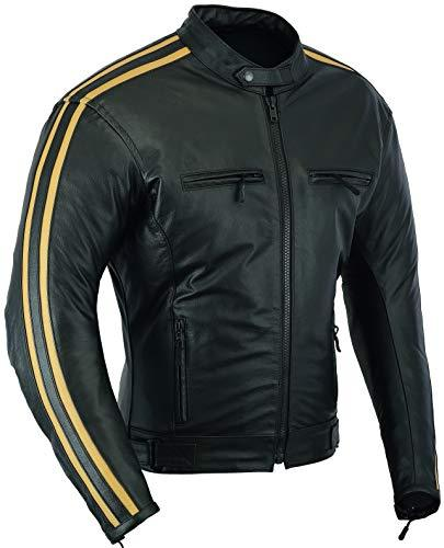 Glider Leather Motorbike Protection Jacket Retro Fashion, XL