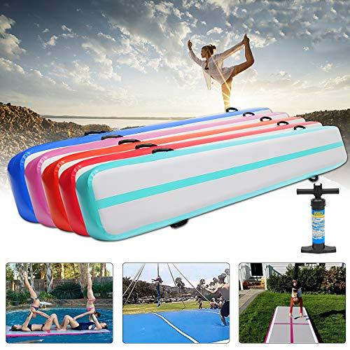 Global Brands Online 300x40x20cm Gymnastics Mat Airtrack Yoga Fitness Training Pads Tumbling Mattress With Pump