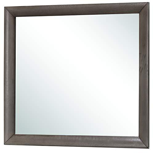 Glory Furniture Bedroom Mirror, Wood Gray
