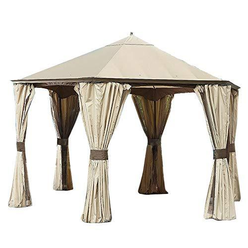 GO Hexagonal Gazebo Replacement Canopy RipLock 350