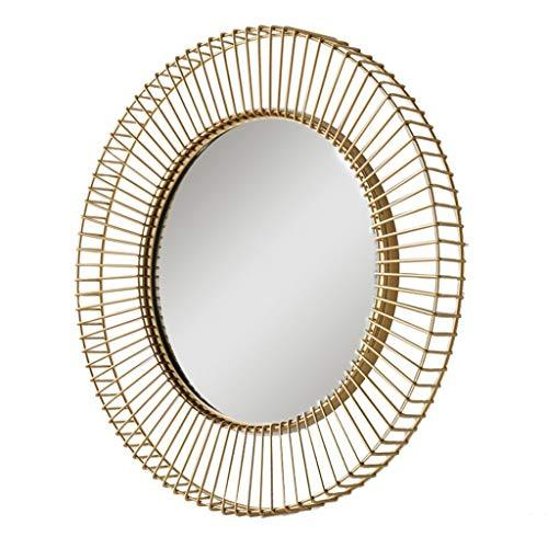 Gold Bathroom Metal Frame Mirror Wall Mounted Round Living Room Corridor Bathroom Bedroom Mirror
