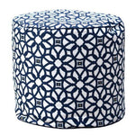 Gold Medal Bean Bags Outdoor/Indoor Sunbrella Weather Resistant Ottoman, Luxe Indigo