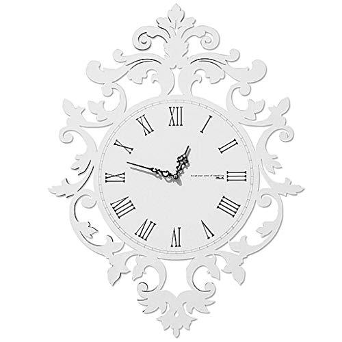 GOPG European Roman Numerals Wall Clock Living Room Creative Modern Classic Clock Individual Art Restaurant Decorative Pocket Watch-14inch-white