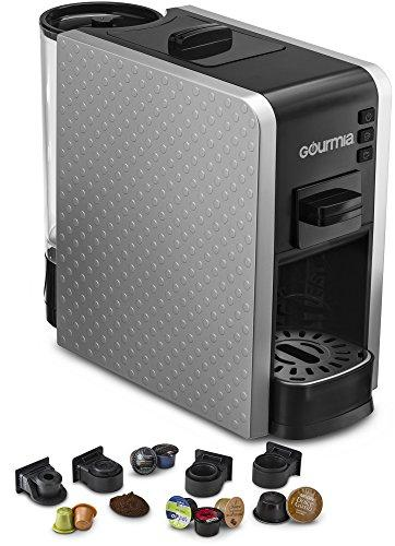 Gourmia Multi Capsule Espresso Coffee Machine Includes Pod Cartridges Compatible for Nespresso - Silver