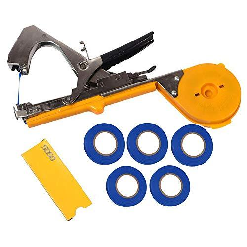 GozzZ Plant Tying Tool Hand Vine Tying Machine Tape Tool Agriculture Tapener Machine Tool for Fruit Flower Vegetable Tomato 5 Tapes + 1 Staples