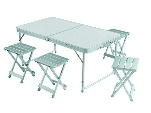 ... Grand Canyon Camping Table Set For 4   Foldable Portable Picnic Table  With 4 Chairs ...