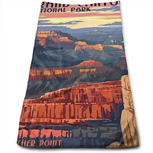 Grand Canyon National Park - Mather Point Multi-Purpose Microfiber Towel Ultra Compact Super Absorbent and Fast Drying Sports Towel Travel Towel Beach Towel Perfect for Camping, Gym, Swimming.