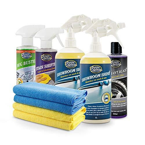 Greased Lightning Showroom Shine Exterior & Interior Car Care Wash Wax Pack