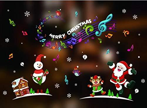 Great Variety Of Birthday Decorations Cartoon Decorative Christmas Window Electrostatic Stickers DecorationsMusical Notes