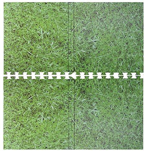 Green Grass Effect Interlocking Eva Mat Soft Foam Mat Exercise Floor Mat Gym Garage Office Kids Play Mat Floor Carpet Protector Aerobic Yoga Mats (20 Mats- 80 Sq Feet)