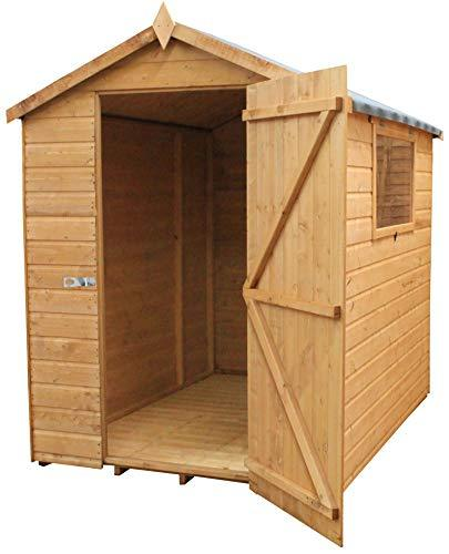 Green Planet UK - 7x5 Premium Shiplap Shed, Garden Workshop - Apex Tongue & Groove Roof, FSC Sourced Timber, Single Door, Styrene Glazed Safety Glass (7x5 / 7ft x 5ft) - FAST DELIVERY