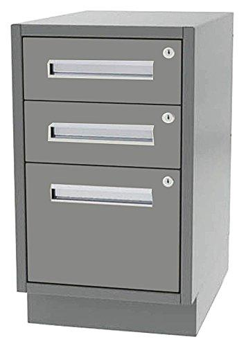 "Greene Manufacturing, Inc. DT-2424-0201 Duratech Base Cabinet Desk Height - 24"" W x 24"" D x 28"" H Two Box/One File Drawer Base"